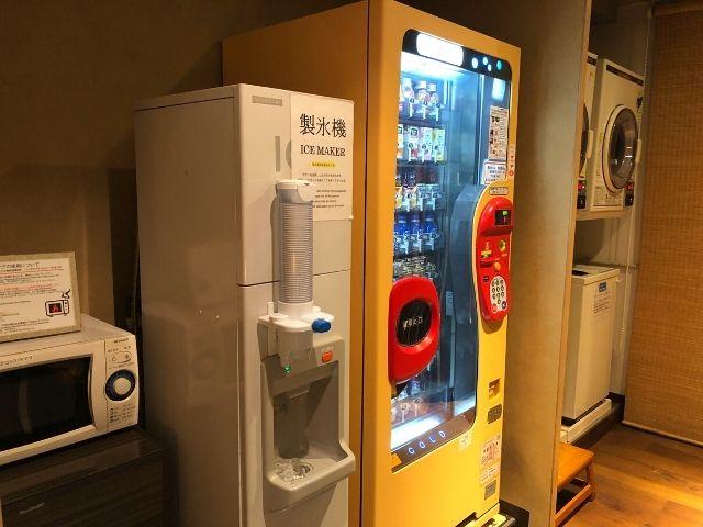 アパヴィラホテル仙台駅五橋の電子レンジ、製氷機、自販機、コインランドリー