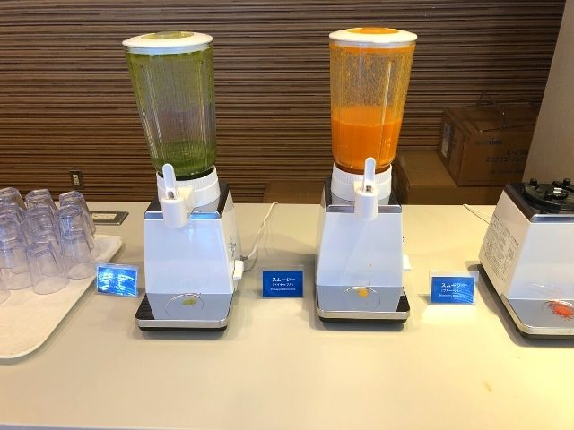 コンフォートホテル仙台西口の朝食バイキングのスムージー類