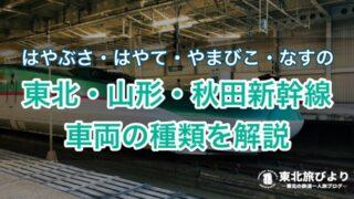 東北新幹線の種類|はやぶさ・やまびこ・つばさ・こまち・はやて・なすのの違い