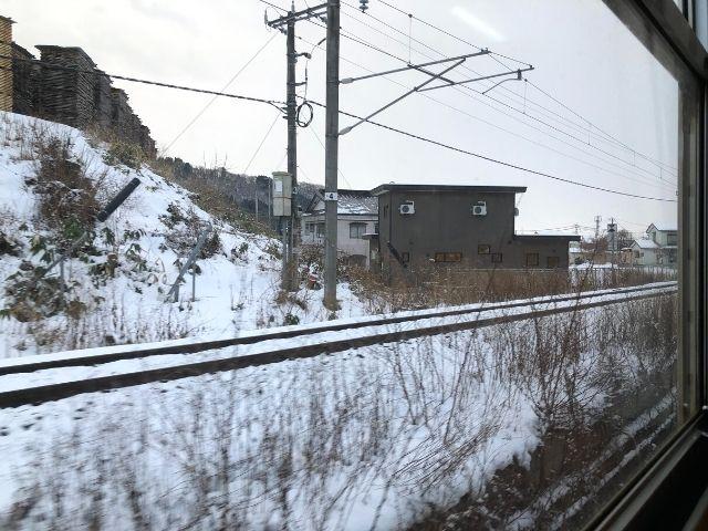 田沢湖線、秋田新幹線の線路と合流する秋田内陸線