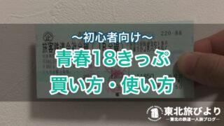 【初心者向け】青春18きっぷ|買い方・値段・期間を解説