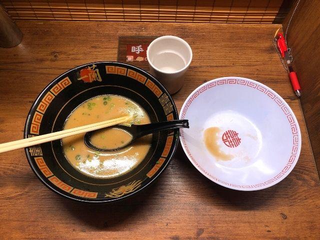一蘭仙台駅前店のラーメンを完食