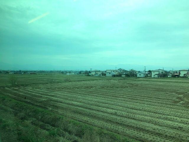 会津若松駅付近の車窓