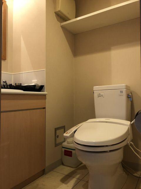 天然温泉 青葉の湯 ドーミーイン仙台ANNEXのエコノミーシングルルームのトイレ
