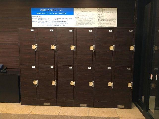 天然温泉 青葉の湯 ドーミーイン仙台ANNEXの宿泊者専用コインロッカー