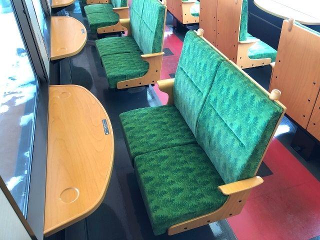 ジパング平泉の指定席の座席