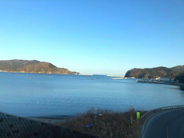 大船渡丸森駅を過ぎた後の車窓