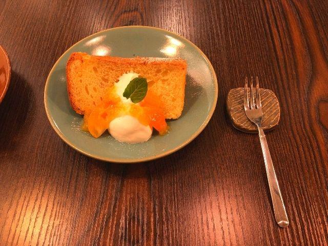 柚子と金柑のクリームチーズシフォンケーキ