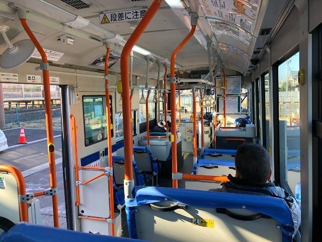 気仙沼線BRTの車内