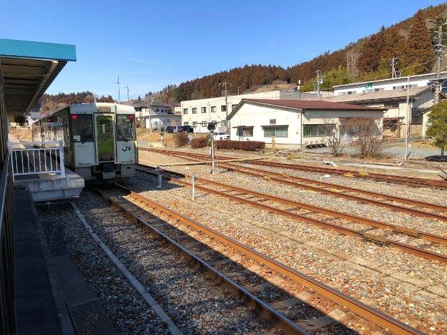 気仙沼駅に停車中の大船渡線