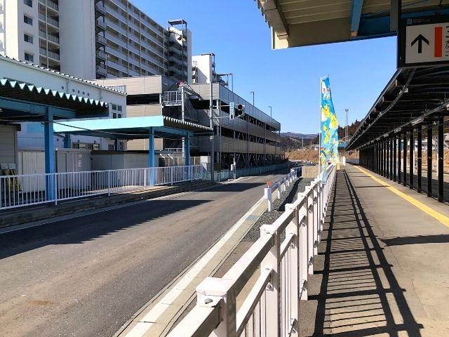 気仙沼駅のBRT専用ホーム