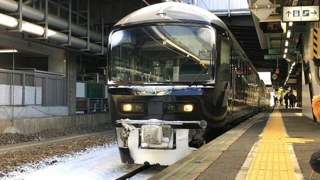 盛岡駅に到着したジパング平泉