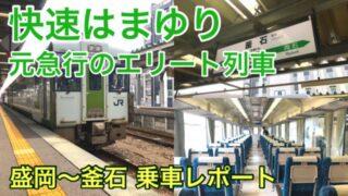 【快速はまゆり乗車記ブログ】盛岡~釜石を結ぶリクライニング指定席付き列車!釜石線の車窓は必見