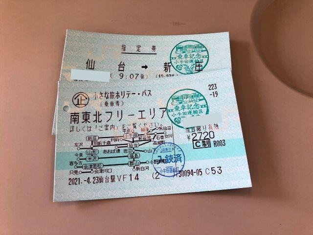 小さな旅ホリデー・パスと快速湯けむり号の指定席券