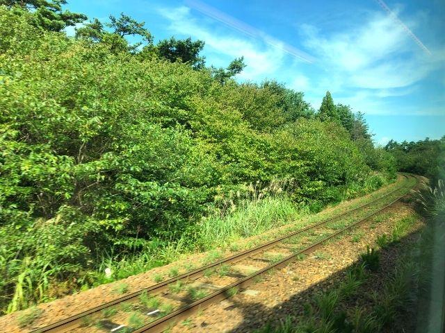 男鹿線と分岐する奥羽本線