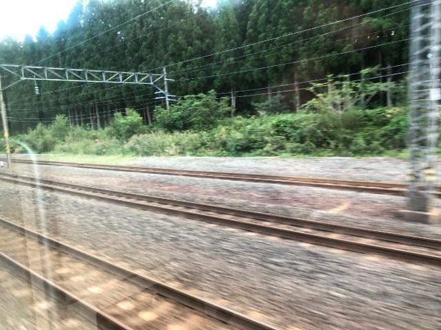 野辺地駅を出発した大湊線の車窓