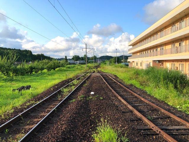 岡駅の側線