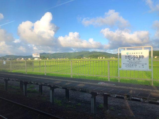 晴れている日の東船岡駅
