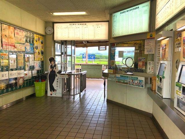 梁川駅の駅舎内の様子