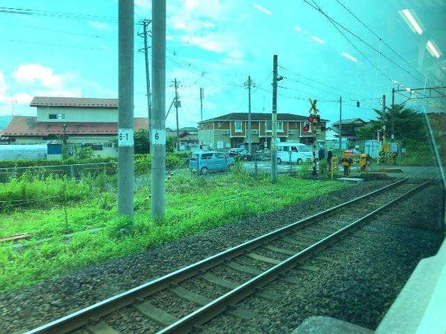 槻木駅を出発した阿武隈急行線